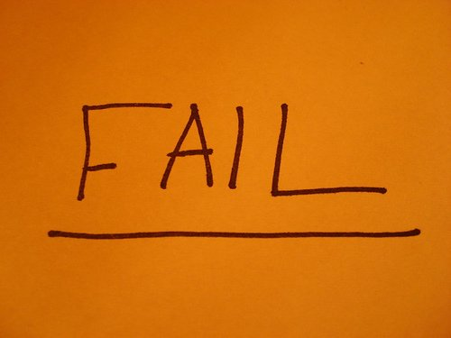 Fail - photo from Flickr user The Happy Robot