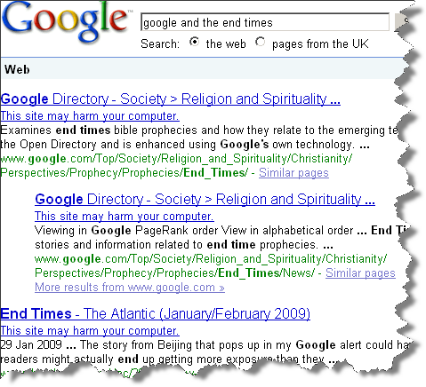 Google and the End Times