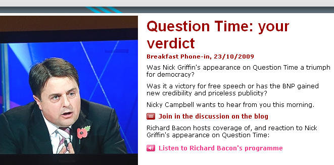 BBC Milks Question Time